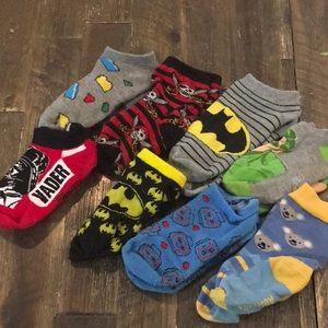 Toddler Sock Lot - Small - Batman, Vader, Mickey